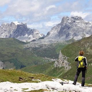 Rätikonberge beim Abstieg ins Gafiatal.