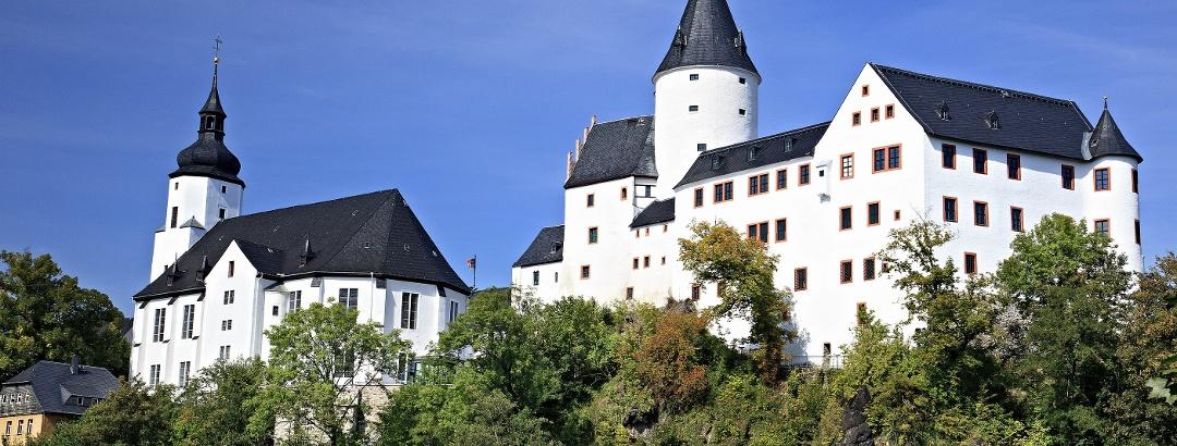Schloss und Kirche in Schwarzenberg