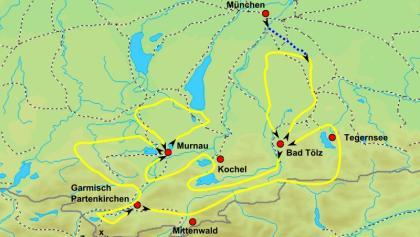 Karte Rundfahrt