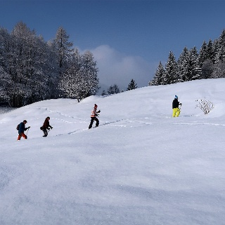 Schneeschuhträume bei Klosters.