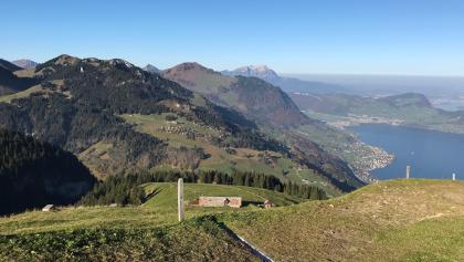 Blick vom Berggasthaus Niederbauen Richtung Pilatus