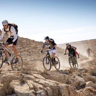 Mountainbiken in der Wüste Negev