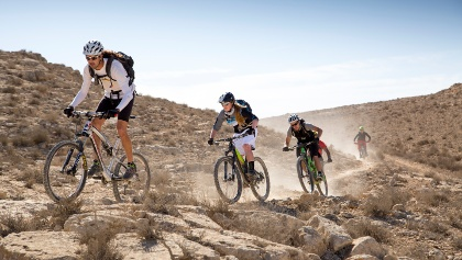 Mountainbiken in der Wüste Negev