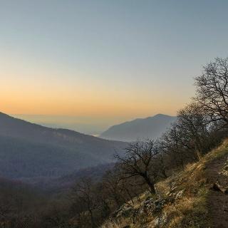 Téli naplemente a Dunakanyarban