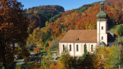 Barocke Klosterkirche in St. Ulrich