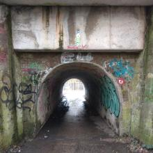 nice graffiti at subway below railway track
