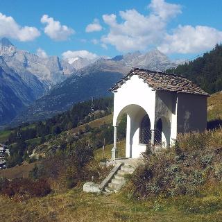 Kapelle des Themenpfads oberhalb Visperterminen