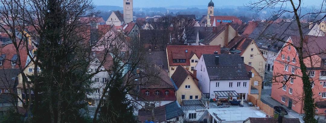 Blick über die Altstadt von Kaufbeuren