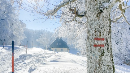 Schöpflhütte mit Blick Richtung Süd-West