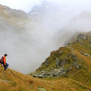 Abstieg vom Piz Ault.