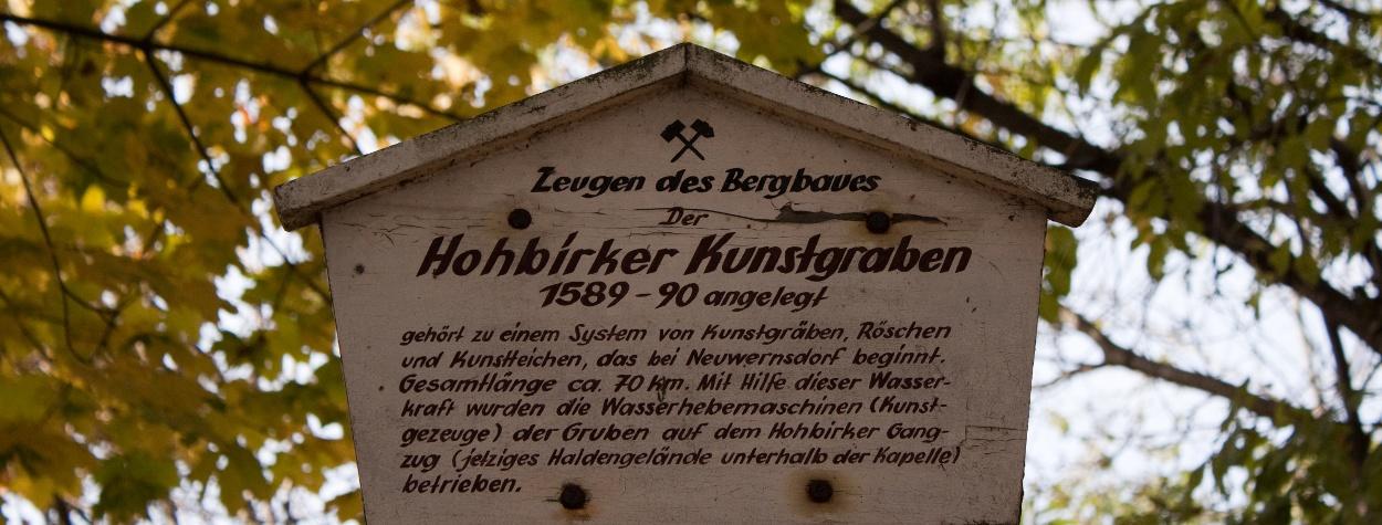 Kunstgraben Beschilderung Zug Freiberg