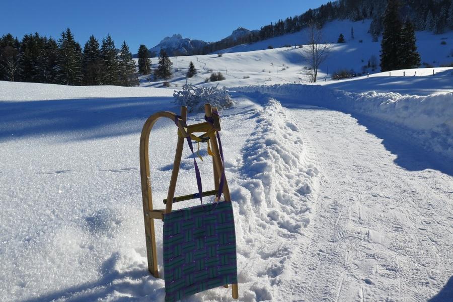 Rodeln von Frasdorf aus: Auf die Frasdorfer Hütte