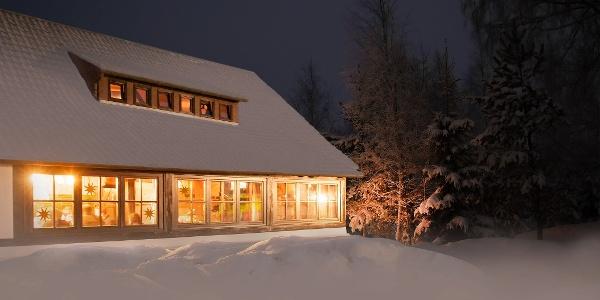 Hohensteinhütte im Winter