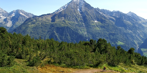 Top-Panorama beim Aufstieg zur Sunniggrathütte.