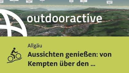 Mountainbike-tour im Allgäu: Aussichten genießen: von Kempten über  den Wirlingser Wald zum ...
