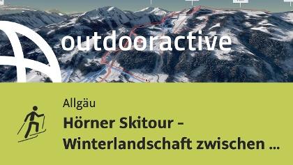 Skitour im Allgäu: Hörner Skitour - Winterlandschaft zwischen Weiherkopf und Ochsenkopf