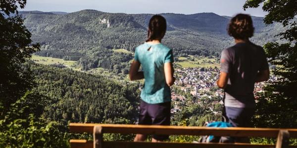 Ausblicke am Traufgang Felsenmeersteig
