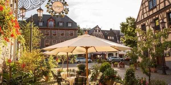 Terrasse Hotel Weinhaus Weiler Oberwesel