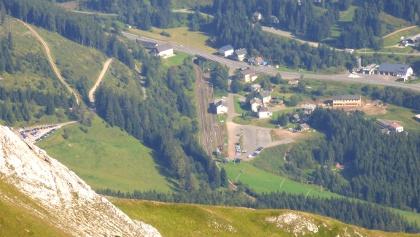 P2-Reichenstein (bildmittig); ganz links P beim Präbichlerhof
