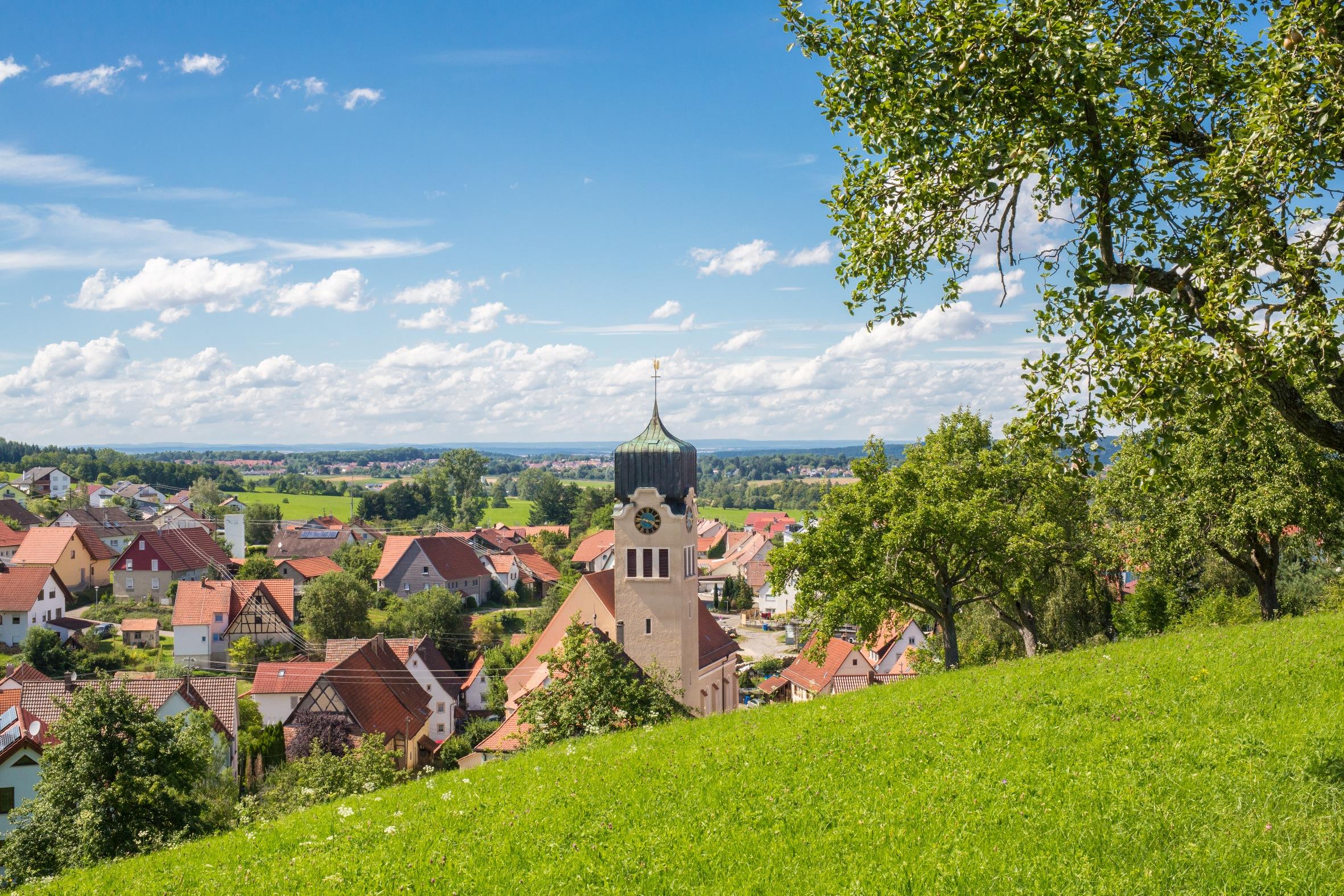 Blick auf Hechingen-Boll