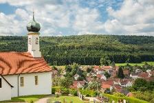 Kirchenköpfle und Blick auf Hechingen-Schlatt