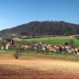 Blick nach Döringshof und Hülfensberg von Südosten