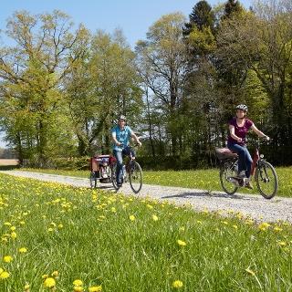 Die Tour verläuft meist auf der Seerücken-Route, abseits der viel befahrenen Rhein-Route.