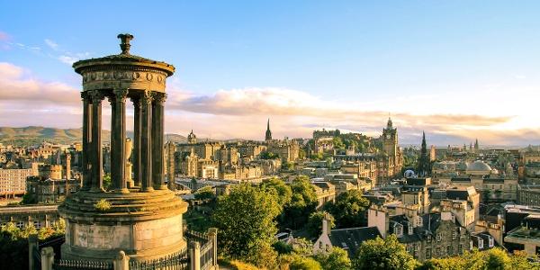 View over Edinburgh from Carlton Hill