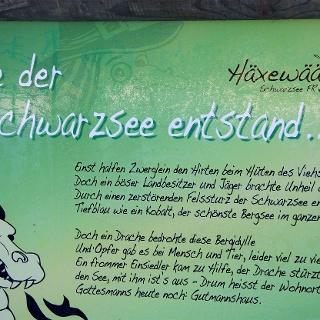 Wie der Schwarzsee entstand...