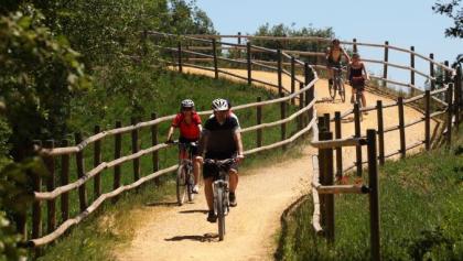 Radfahrer im Izki Naturpark