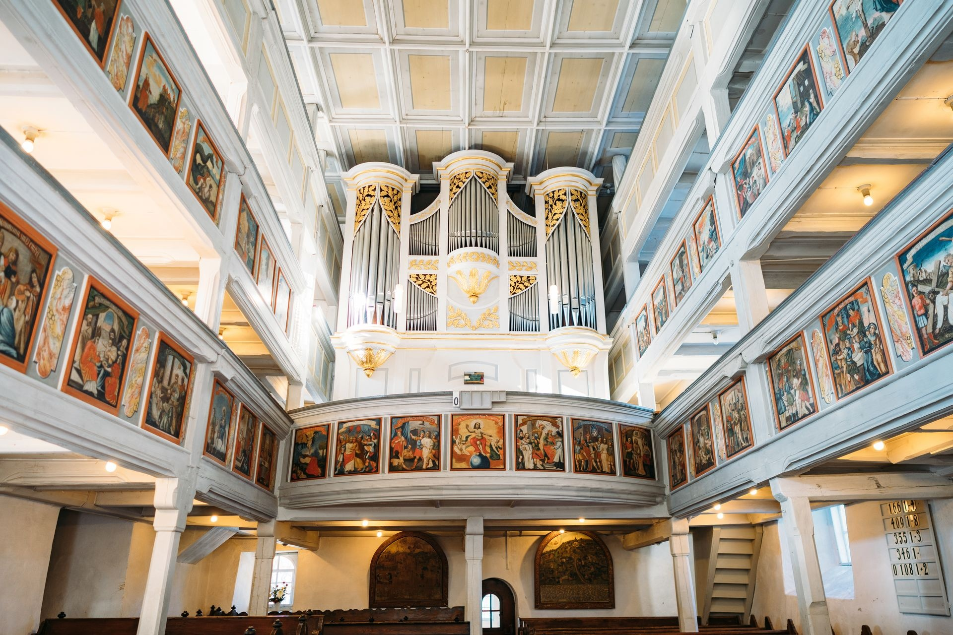 Wehrkirche Großrückerswalde Innenansicht