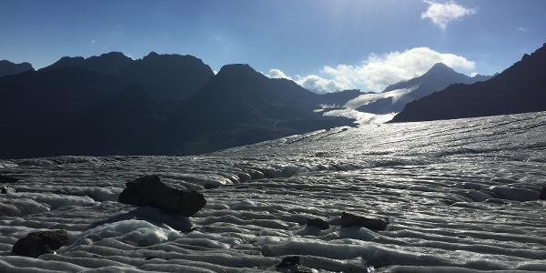 Auf dem Gletscher zum Piz Buin