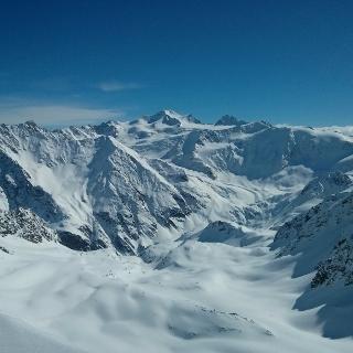 Wildspitzblick vom Gipfelgrat