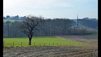 Abbaye du Val-Dieu vom Weg zwischen Macra und Saint-Jean-Sart