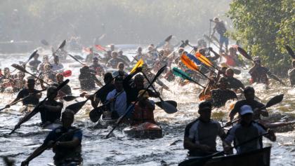 400 Boote stechen beim 1000seen Marathon ins Seenreich