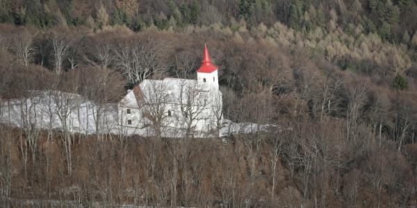 A Szent Vid kápolna a magasból