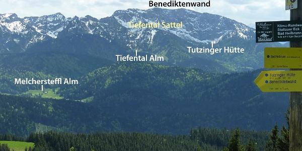 Blick vom Zwiesel zur Benediktenwand