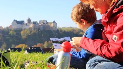 Picknick vor Burg Mildenstein in Leisnig