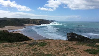 Amado beach south to Cabo Soa Vicente.