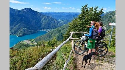 Ausblick auf den Lago di Ledro