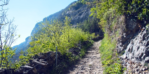 Aufstieg zum Plateau de Vérossaz