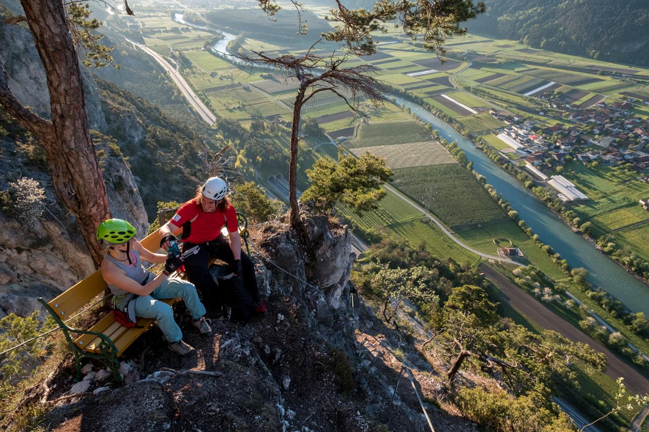 Klettersteig Geierwand : Klettersteig haiming geierwand Österreichs wanderdörfer