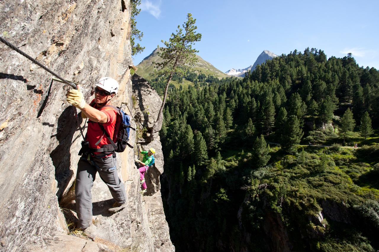 Klettersteig Zirbenwald : Klettersteig obergurgl zirbenwald Österreichs wanderdörfer