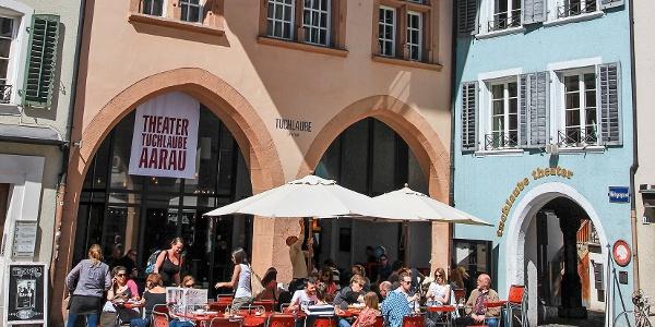 In der Altstadt von Aarau.