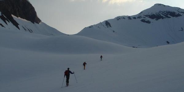 Skitour in Richtung Spielmann