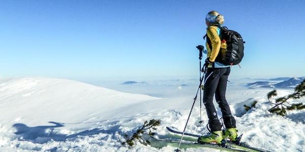 Auf Skiern übers Lattengebirge