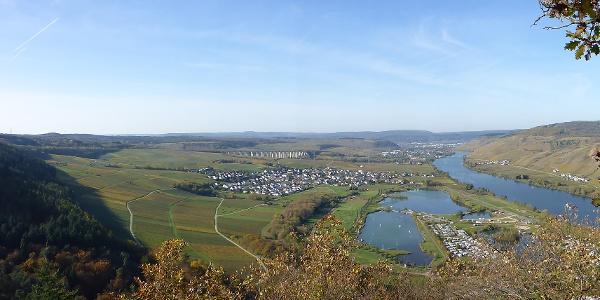 Panorama am Aussichtspunkt Kumer Küppchen