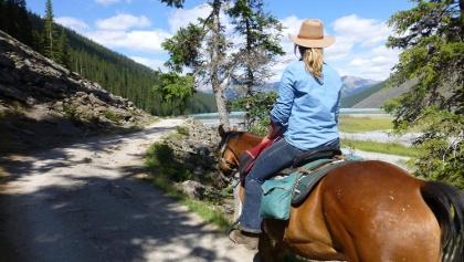 Rider at Lake Louise