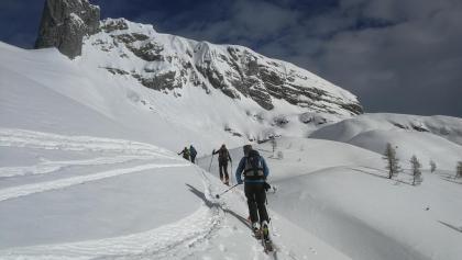 Aufstieg von den Steirerseehütten - vorbei am Sturzhahn