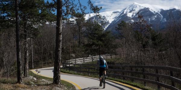 The bike path towards Monte Taglio di Sarca